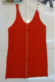 Lady's Zippers Embellished Pure Color Sleeveless Vest QZ11072910-1