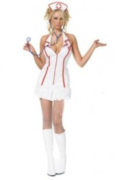 Sexy Nurse Style Role Play Costume White DH11050523