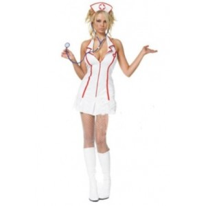 Sexy Nurse Style Role Play Costume White WH DH11050523