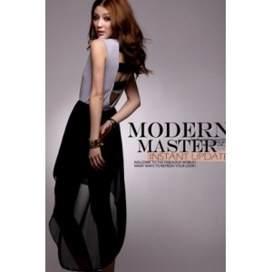 Sexy Modern Design Backless Splicing Chiffon Dress WH TQ11091704